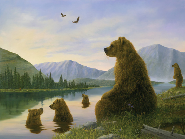 """The Bathers"", a painting by Robert Bissell"