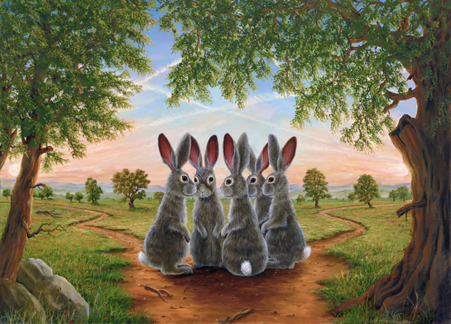 """The Dilemma"", a painting by Robert Bissell"