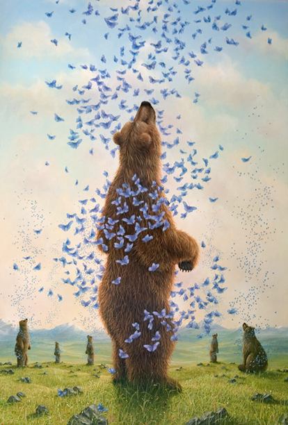 """The Embrance"", a painting by Robert Bissell"