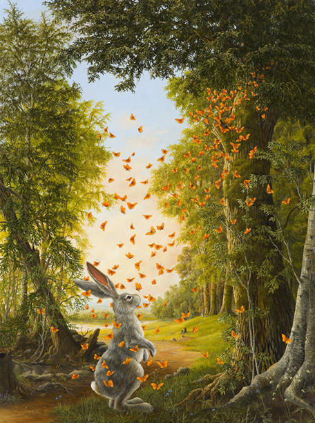 """The Emergence"", a painting by Robert Bissell"