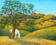 """California Summer"", a landscape painting by Jessica Maring"