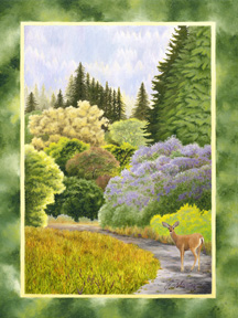 """A Path in the Park"", a landscape painting by artist Jessica Maring"