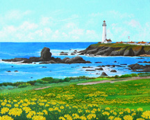 """Pigeon Point"", a landscape painting by Jessica Maring"