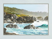 """Storm Surge Point Lobos"", an oil painting by artist Jessica Maring"