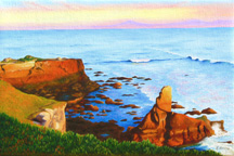 """Sunset Santa Cruz"", a landscape painting by Jessica Maring"