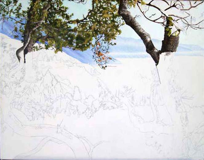 Work in Progress: The Big Sur Coastline from Nepenthe, by Jessica Maring